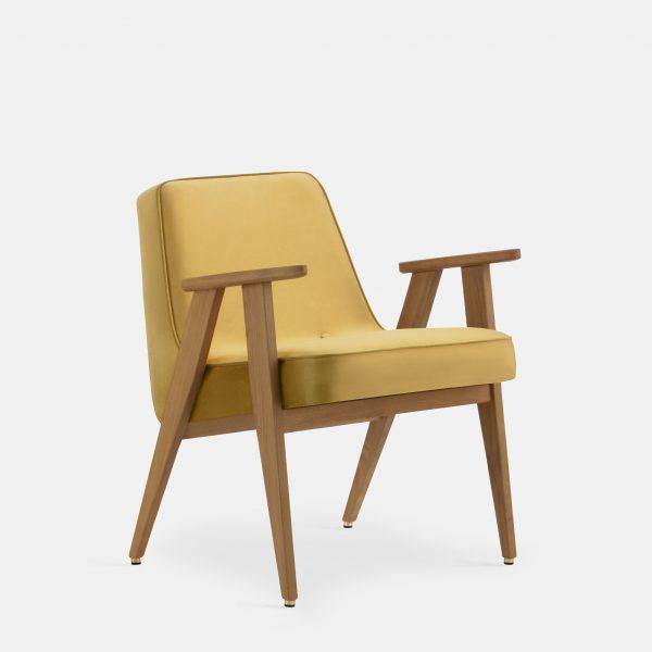 366 Concept 366 Armchair W02 Shine Velvet Mustard