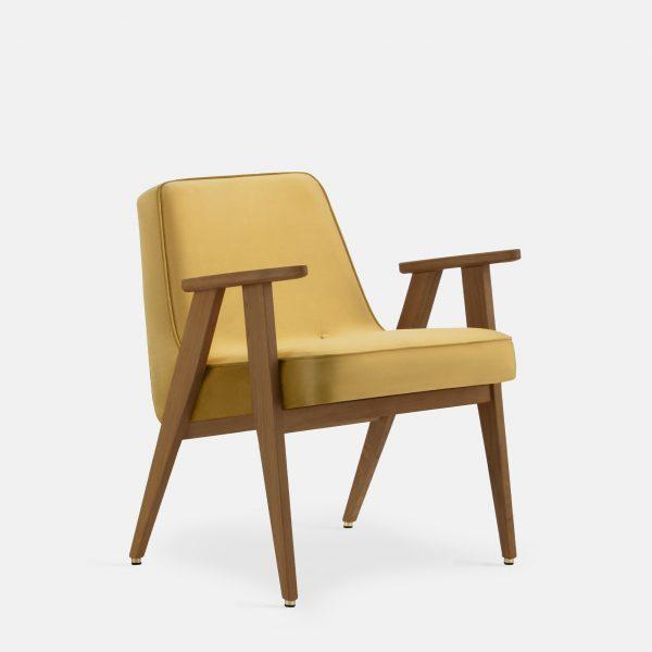 366 Concept 366 Armchair W03 Shine Velvet Mustard