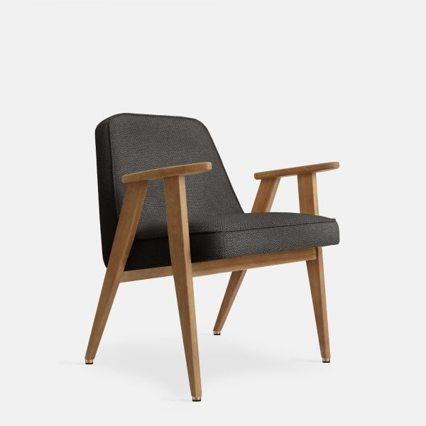 366 Concept 366 Armchair W02 Tweed Black