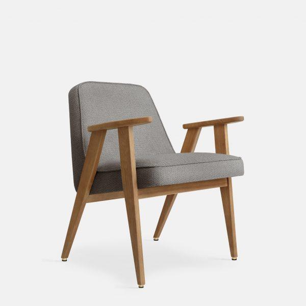 366 Concept 366 Armchair W02 Tweed Grey