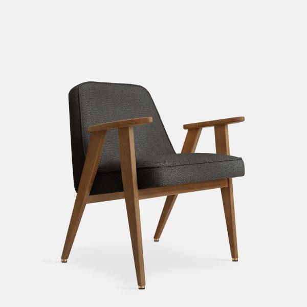 366 Concept 366 Armchair W03 Tweed Black