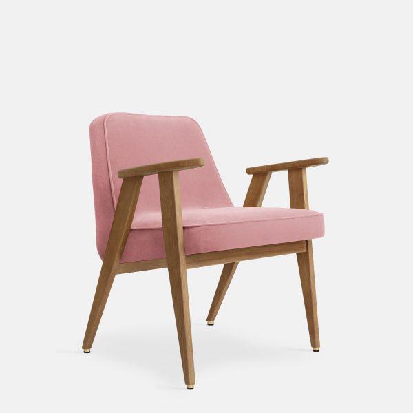 366 Concept 366 Armchair W02 Velvet Powder Pink