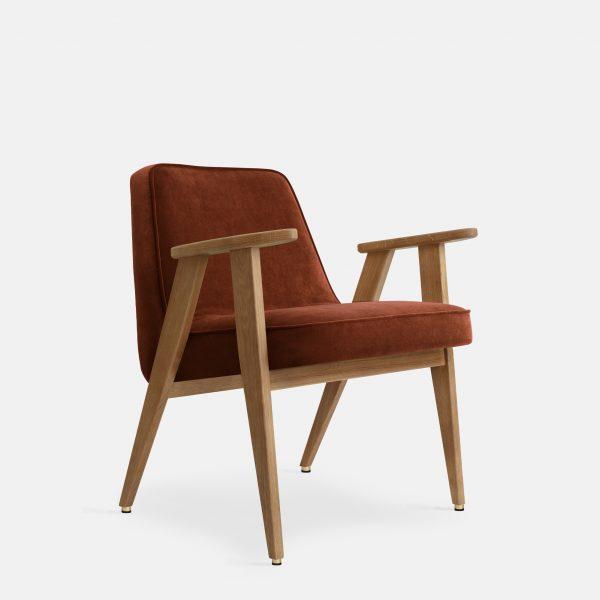 366 Concept 366 Armchair W02 Velvet Red Brick