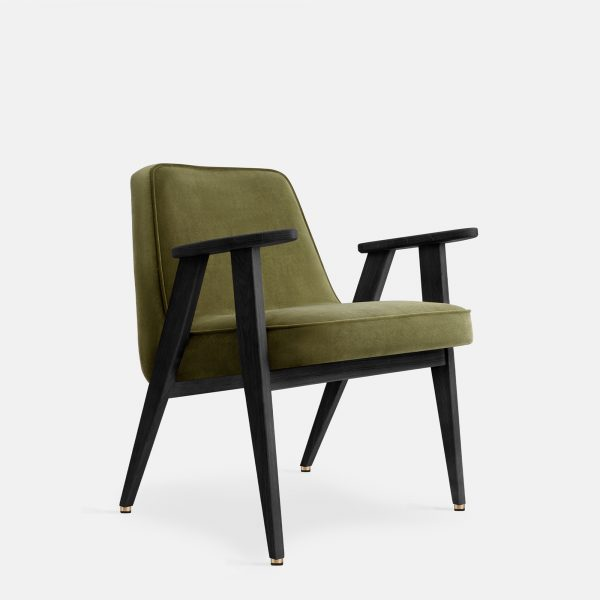 366 Concept 366 Armchair W04 Velvet Olive