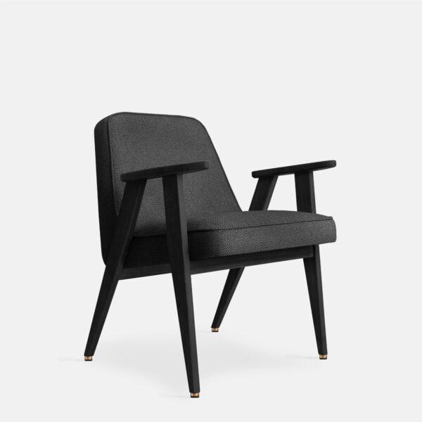 366 Concept 366 Armchair W04 Tweed Black